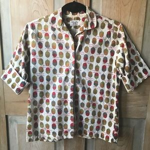 Vintage Shirley button up acorn top